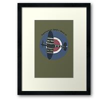 Vintage Fighter Plane Supermarine Spitfire Mark 19 Framed Print