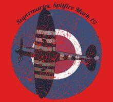 Vintage Fighter Plane Supermarine Spitfire Mark 19 Kids Clothes