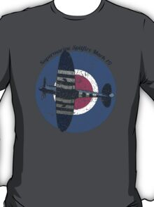 Vintage Fighter Plane Supermarine Spitfire Mark 19 T-Shirt