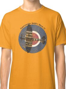 Vintage Fighter Plane Supermarine Spitfire Mark 19 Classic T-Shirt