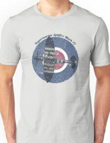 Vintage Fighter Plane Supermarine Spitfire Mark 19 Unisex T-Shirt