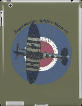 Vintage Fighter Plane Supermarine Spitfire Mark 19 by VintageSpirit