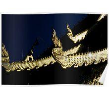 Serpent Finials Chiang Mai Poster