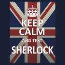 Keep Calm And Text Sherlock by RubyFox