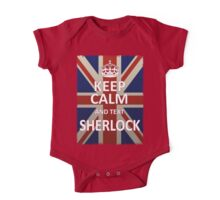 Keep Calm And Text Sherlock One Piece - Short Sleeve