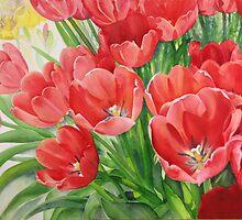 Red Tulips by Karin Zeller