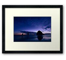 Blue Cannon Beach Framed Print