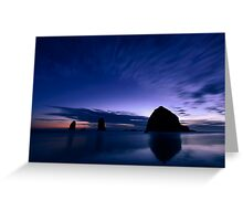 Blue Cannon Beach Greeting Card