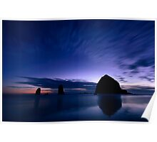 Blue Cannon Beach Poster