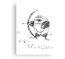 Archer owl Canvas Print