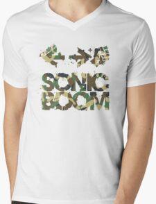 Sonic Boom Command - Camo Mens V-Neck T-Shirt