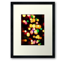 Lights Lights Framed Print
