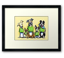 Think Adoption | Green Tee Shelter Dogs Framed Print
