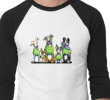 Think Adoption | Green Tee Shelter Dogs Men's Baseball ¾ T-Shirt