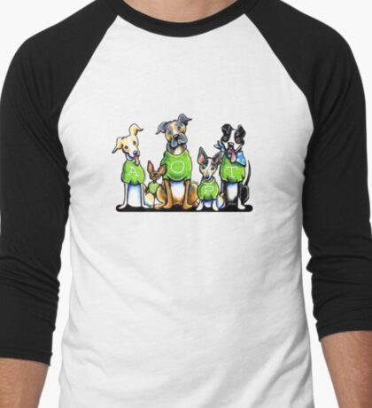 Think Adoption | Green Tee Shelter Dogs Men's Baseball ¾ T-Shirt