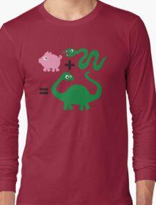 Pig + Snake = Dinosaur Long Sleeve T-Shirt