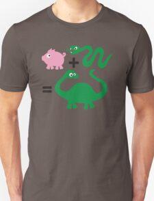 Pig + Snake = Dinosaur Unisex T-Shirt