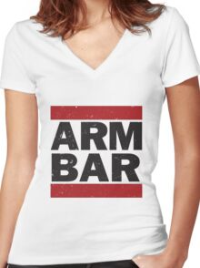 Arm Bar Women's Fitted V-Neck T-Shirt