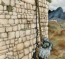 Watercolor Tribute to Arthur Rackham's Rapunzel by Elizabeth Aubuchon