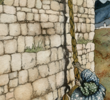 Watercolor Tribute to Arthur Rackham's Rapunzel Sticker