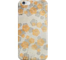 Vintage Worn Orange Floral Wallpaper iPhone Case/Skin