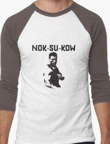 White Warrior Men's Baseball ¾ T-Shirt