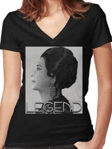 Umm Kulthum Women's Fitted V-Neck T-Shirt
