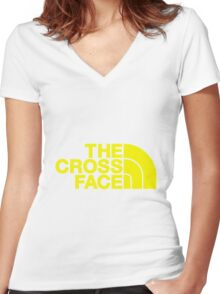The Cross Face Women's Fitted V-Neck T-Shirt