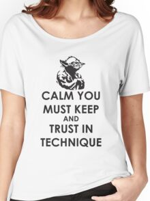 Calm you must keep Women's Relaxed Fit T-Shirt