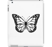 Butterfly - Black & White iPad Case/Skin