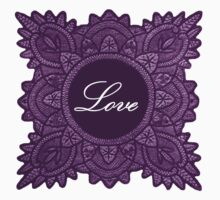 Purple vintage lace love  by jaclinart
