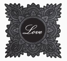 Black vintage lace love  by jaclinart