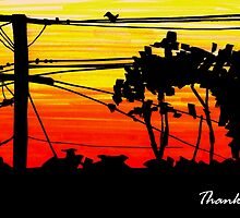 Sunset Thank you by KeLu