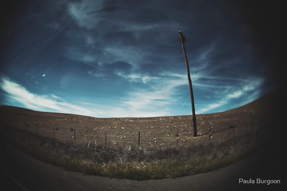 empty sky empty road by Paula Burgoon