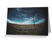 empty sky empty road Greeting Card