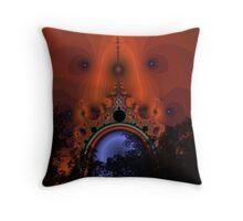 Night Of The Portal Moon Throw Pillow