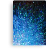 GALACTIC SCALES - Sea Scales in Deep Royal Marine Navy Blue Tones, Stars Abstract Acrylic Painting  Canvas Print
