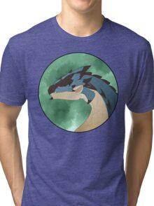 Azure Rathalos Portrait Tri-blend T-Shirt