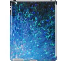 GALACTIC SCALES - Sea Scales in Deep Royal Marine Navy Blue Tones, Stars Abstract Acrylic Painting  iPad Case/Skin