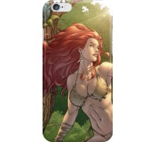 Redhead Cavewoman in Jungle by Al Rio iPhone Case/Skin