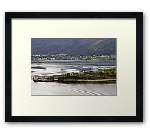 At the very edge Framed Print
