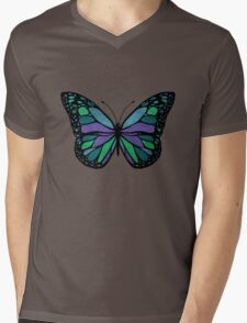 Butterfly - Color Mens V-Neck T-Shirt