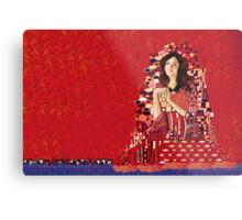 Portrait of Clara Oswin-Oswald a la Klimt Metal Print