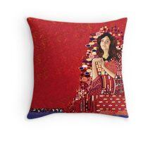 Portrait of Clara Oswin-Oswald a la Klimt Throw Pillow