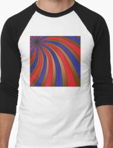 Brown, red, and blue swirls T-Shirt