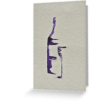 Bottle and Glass Greeting Card
