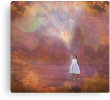 Off To Fairyland (By Way Of Fairyloons) Canvas Print