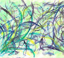 Green & Purple Watercolor by Jess Meacham