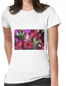 Wedding flowers Womens Fitted T-Shirt
