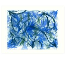 Blue Spark Watercolor Art Print